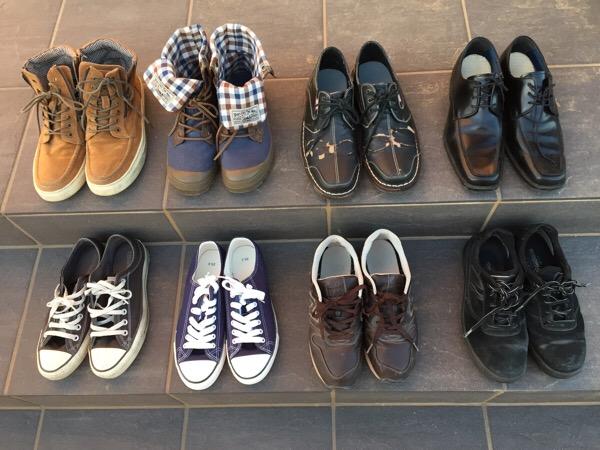 靴を捨てて悩みをなくす