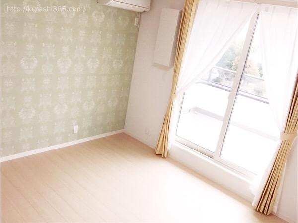 【web内覧会】アクセント壁紙で北欧ナチュラルな寝室