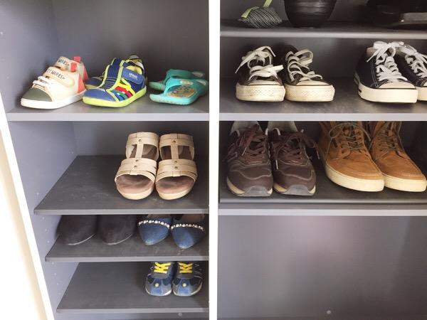子供靴の置き方のコツ!収納力upする方法